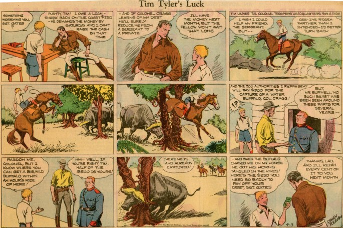 Söndagsserien med Tim Tyler's Luck från 5 april 1936