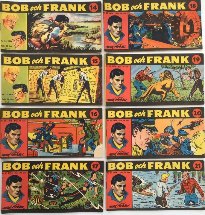 Omslag till Bob och Frank nr 14-21, 1954
