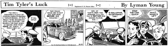 En dagsstripp från 8 december 1941