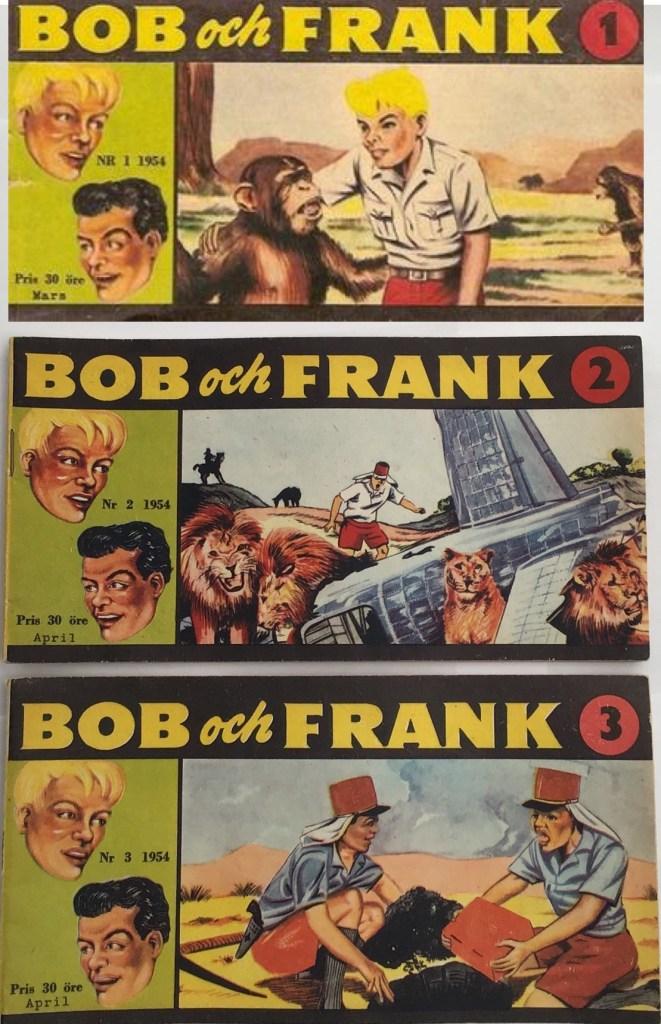 Omslag till Bob och Frank nr 1-3, 1954