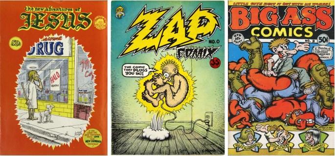 Frank Stack och Robert Crumb var ett par framträdande namn i Underground Comics