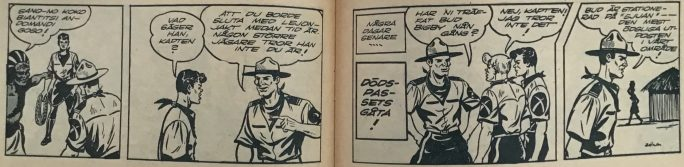 Inledningen till Dödspassets gåta i Bob och Frank nr 14, 1954