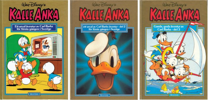 Kalle Ankas Guldbok, del 1-3 från ©Richters