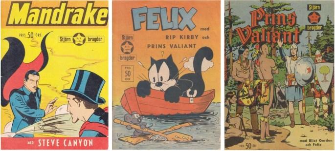 Stjärnbragder nr 4, 8 och 14 (1953), utgivna av Allers förlag