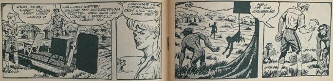 Mittuppslaget i Bob och Frank nr 6, 1954, med bör)an på episoden Fang, den svarta pantern