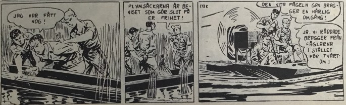 Avledningen till episoden ur Spud & Co nr 3, 1963