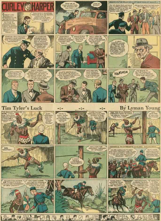 Söndagssidan av Lyman Young från 25 juni 1939