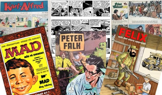 Tecknade serier publiceras på många olika sätt
