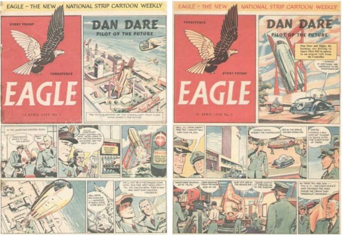 Eagle nr 1 och 2 (1950) från förlaget ©Hulton Press