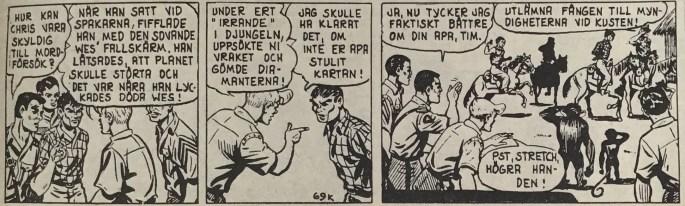 Den avledande strippen i Spud & Co nr 3, 1963, till episoden