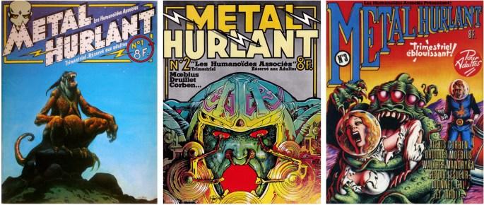 Métal Hurlant Nr 1-3 (1975) från förlaget ©Les Humanoides Associés