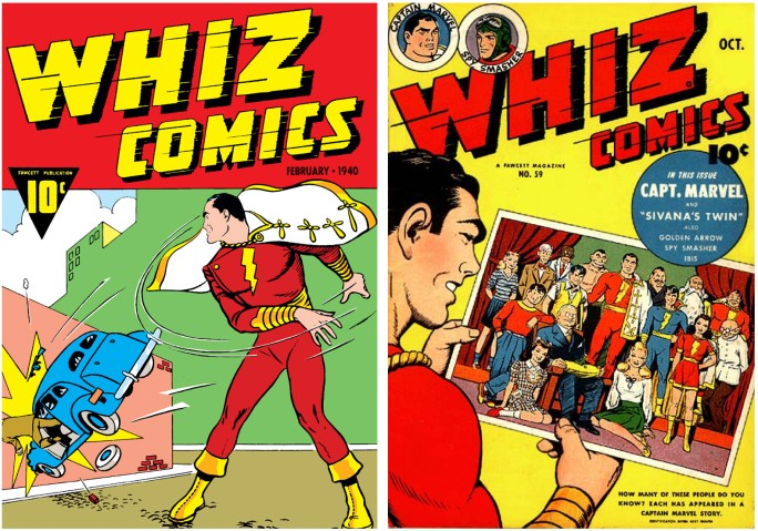Captain Marvel blev en välkänd seriefigur från förlaget ©Fawcett Comics