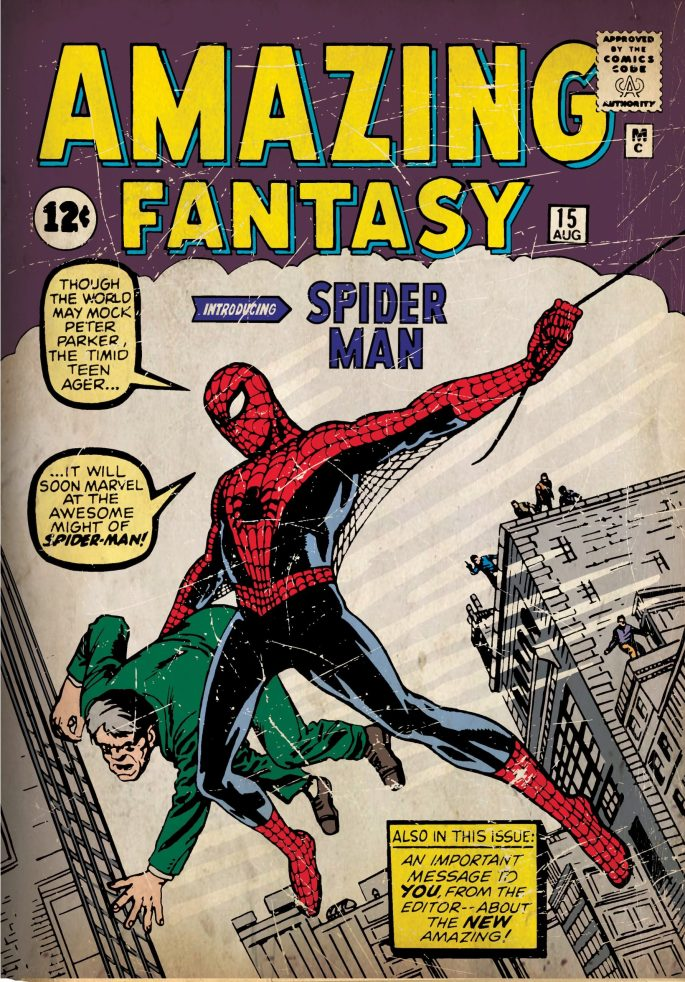 Amazing Fantasy #15 (August 1962) från förlaget ©Marvel Comics