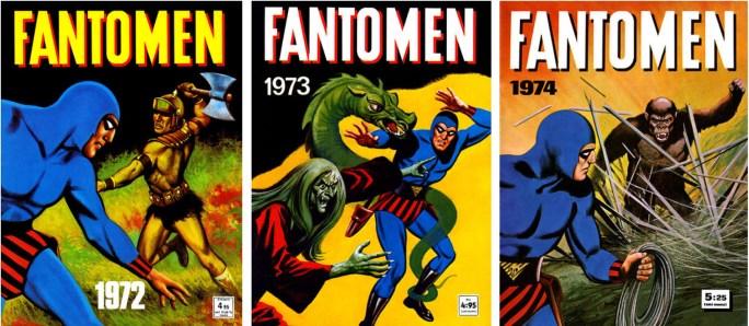 Omslag till Fantomen julalbum 1971, 1972, och 1973