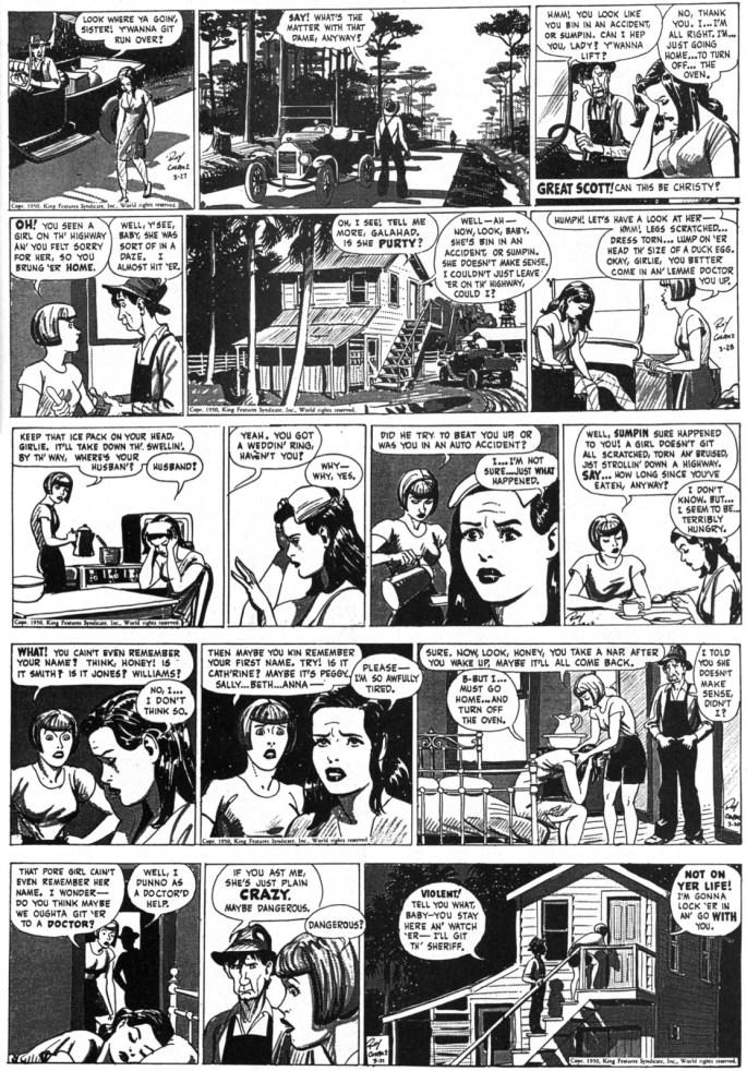 Originalstripparna från 27-31 mars 1950
