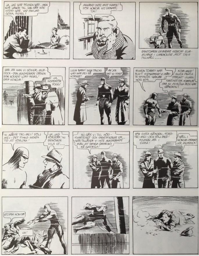 En sida ur Lille Tommy i Fantomen 1936-1996