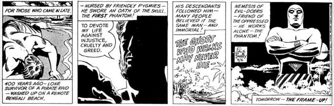 Den inledande strippen till The Frame-Up från 6 maj 1968