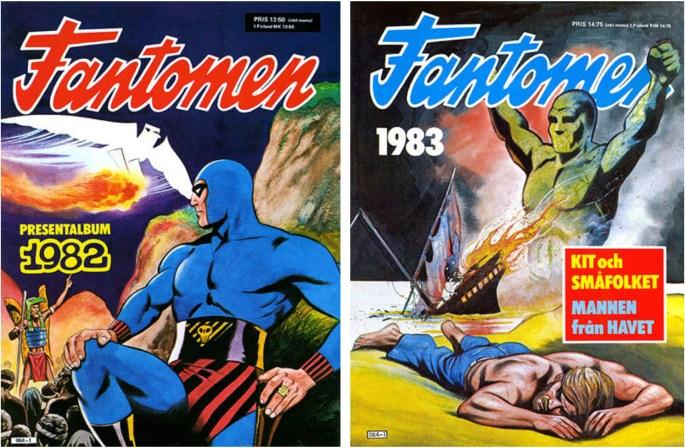 Omslag till Fantomen julalbum 1981 och 1982