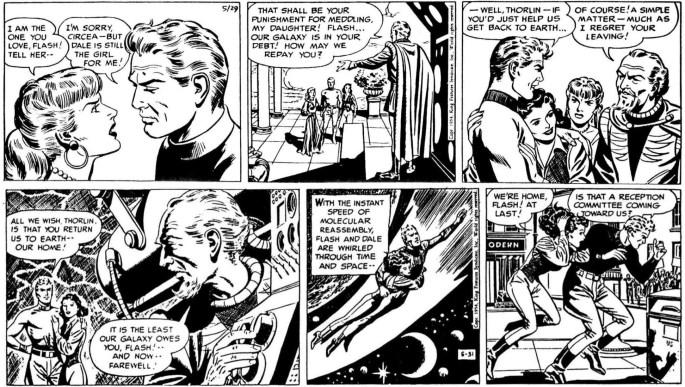 Dagsstripparna i original från lördag den 29 maj och måndag 31 maj 1954