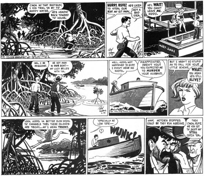Originalstripparna från 24-26 mars 1950