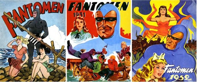 Omslag till Fantomen julalbum 1950, 1951, och 1952