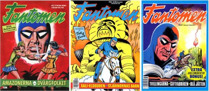 Fantomen julalbum 1988, 1989, och 1990