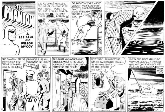 Söndagssidan från den 24 mars 1957 som liggande halvsida