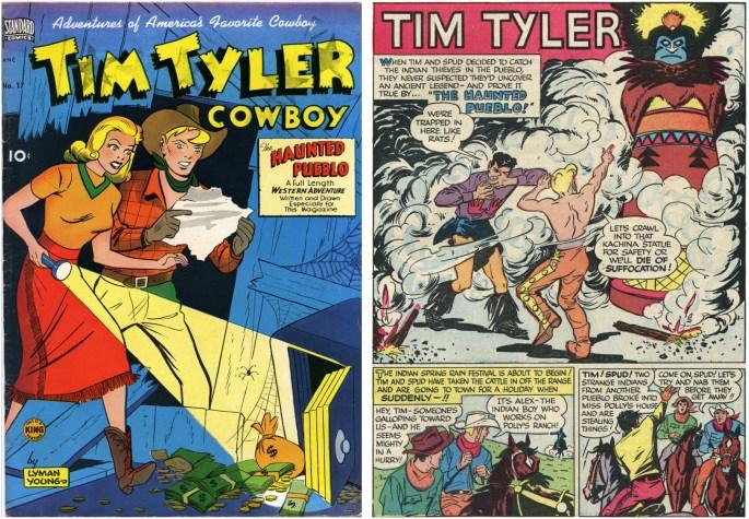 En utgåva av Tim Tyler Cowboy från 1950
