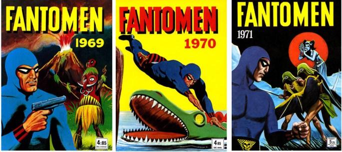 Fantomen julalbum 1968, 1969, och 1970