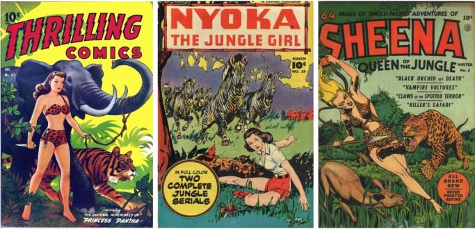På 50-talet var det gott om serietidningar med kvinnliga djungelhjältar