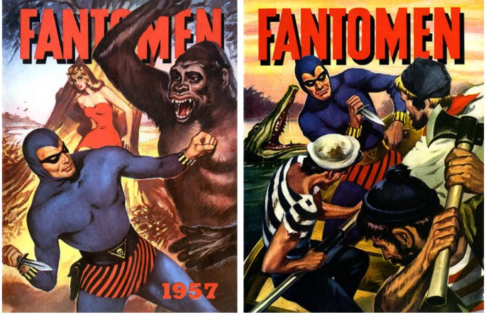 Omslag till Fantomen julalbum 1957 och 1958