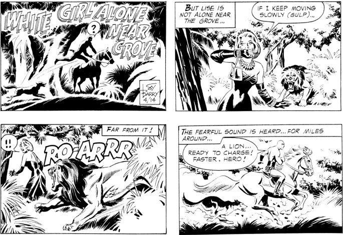 Motsvarande avsnitt ur söndagssidan från 14 april, 1974