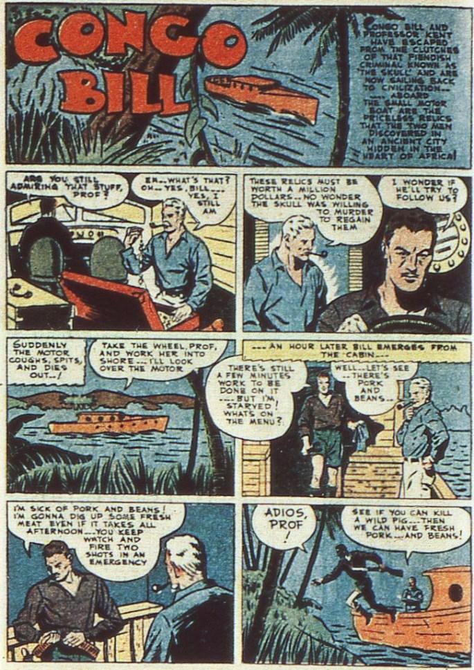 Första sidan med Congo Bill ur More Fun Comics #57.
