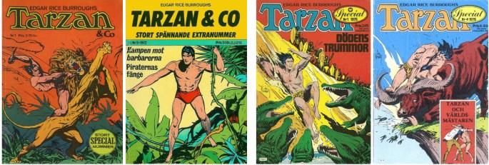 Tarzan & Co nr 1/71 och 2/72, och Tarzan Special nr 1 och 4, 1976.