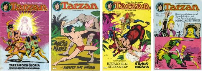Omslag till Tarzan nr 1 och 3-5, 1977. ©Atlantic