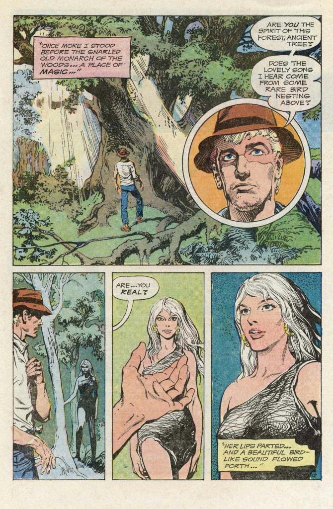 Abel träffar på Rima för första gången i Rima, the Jungle Girl #1. ©DC