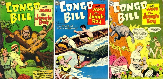 Congo Bill #1-3 (1954) med Janu the Jungle Boy.