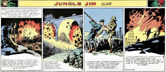 Jungle Jim episod-guide: Söndagsstrippen den 9 augusti 1942. ©KFS