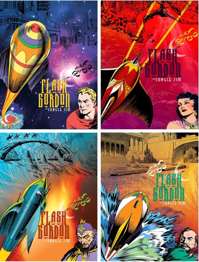 Definite Flash Gordon and Jungle Jim, volume 1-4. ©IDW