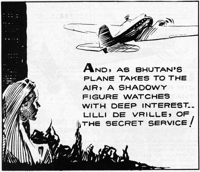En ruta ur söndagsstrippen den 3 januari 1937