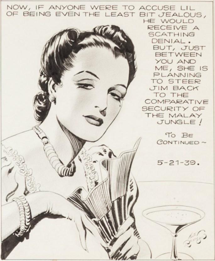 Den avslutande bildrutan ur originalet från strippen den 21 maj 1939