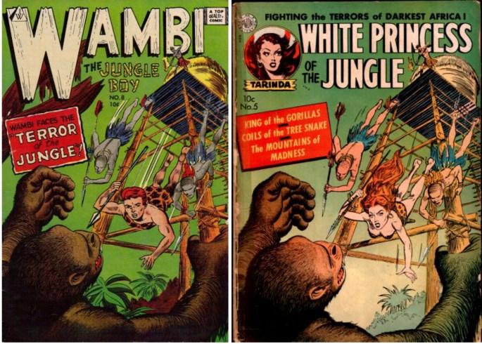 Wambi #8 innehöll reprismaterial. Intressant var att omslaget ursprungligen avsåg hjältinnan Tarinda, men tecknats om för att visa Wambi