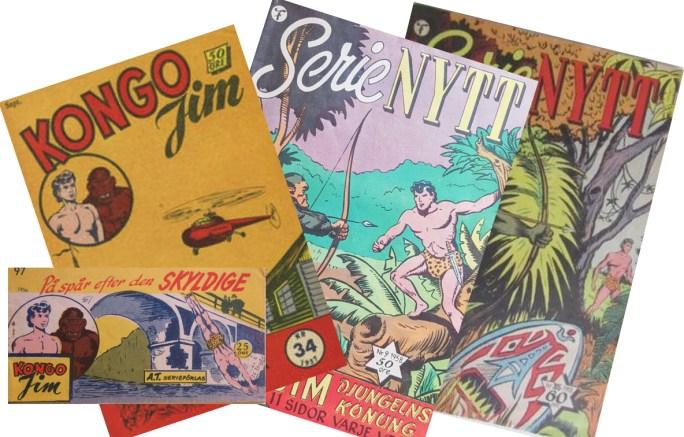 Jim, djungelns konung gick i Serie-Nytt, och hade dessförinnan en egen tidningen med titeln Kongo-Jim