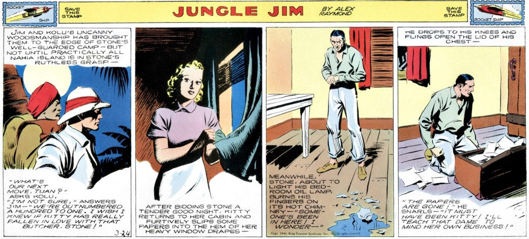 Jungle Jim episod-guide: En söndagsstripp från 23 mars 1940.