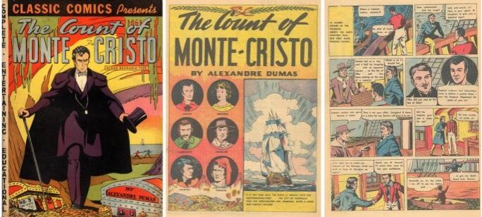Omslag och inledande sidor av Classic Comics #3 från 1942. ©Gilberton