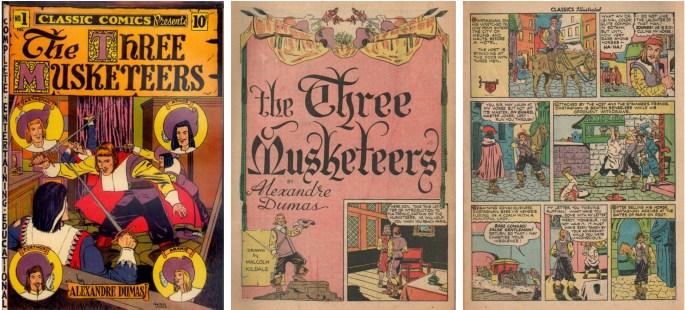 Omslag och inledande sidor till Classic Comics #1. ©Gilberton