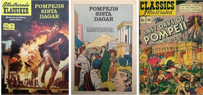 Omslag och första seriesida till Illustrerade klassiker nr 132, och omslag till en tidigare version av serien i Classics Illustrated #35 (t.h.). ©IK/Gilberton