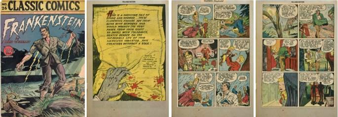 Omslag och inledande sidor till Classic Comics #26. ©Gilberton