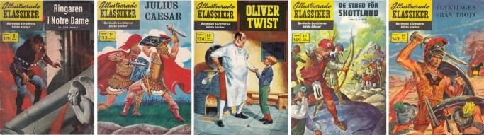 Fem nummer av Illustrerade klassiker hade serier av Reed Crandall. ©IK/Gilberton