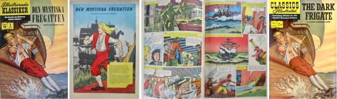 Illustrerade klassiker nr 54, och omslaget från Classics Illustrated #132 (t.h.). ©IK/Gilberton
